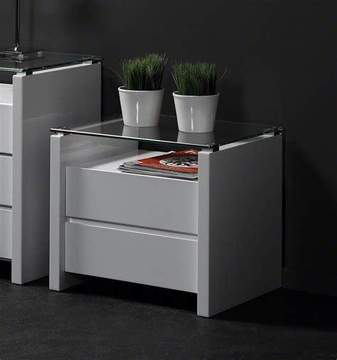 chevet blanc laque pas cher mobilier table table de chevet design blanc