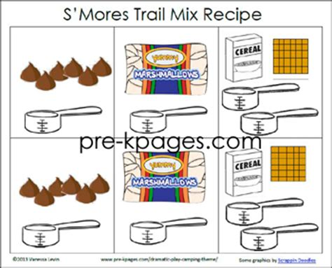 printable s more trail mix recipe 603 | smores trail mix printable recipe