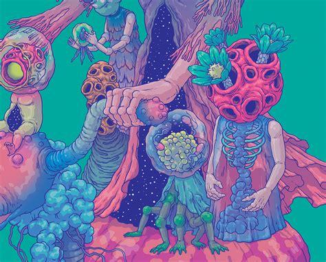 neon planet illustrations  bang sangho scene
