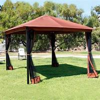 excellent patio tent with net 10 x 12 Patio Gazebo Canopy with Mosquito Netting