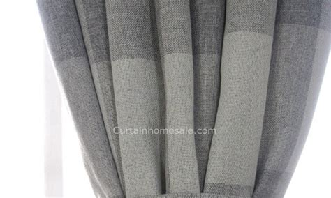 shabby chic linen cotton fabric curtains blackout print gray