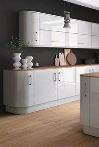 Zurfiz, Light, Grey, High, Gloss, Acrylic, Kitchen, Doors