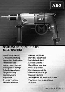 Aeg Sb2e 850 Rs Tools Download Manual For Free Now