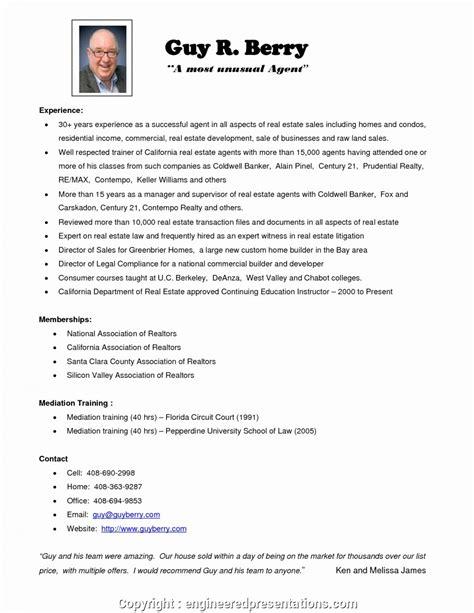 Realtor Resume Sle by Newest Real Estate Resume Realtor Resume Exles