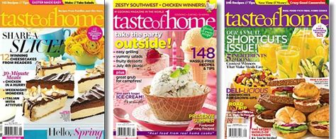 Taste Of Home : Taste Of Home Magazine 1-year Subscription $6.25