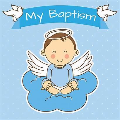 Christening Boy Baptism Clip Clipart Vector Illustrations