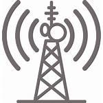 Tower Icon Broadcast Telecom Radio Towers Clip