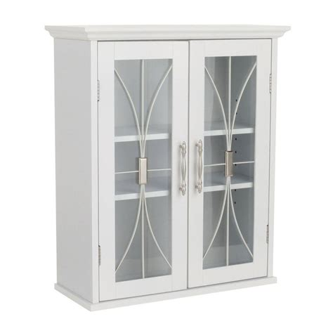 bathroom cabinet with glass doors elegant home fashions victorian 20 1 2 in w x 24 in h x