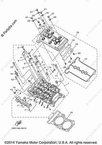 Yamaha Motorcycle 2014 Oem Parts Diagram For Cylinder Head