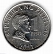 Coin of 1 Piso 2011 from Philippines - ID 22893