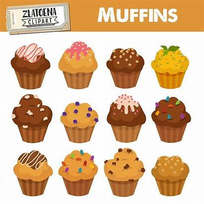 Clipart Muffin Muffins Cupcake Bakery Simple Clip