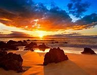 Amazing Hawaiian Beach Sunset