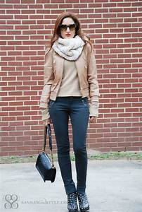 Casual Style - Bomber Leather and the Snood   Sannam and Style