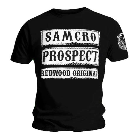 Official T Shirt Sons Of Anarchy Samcro Prospect Redwood Original All Sizes Ebay