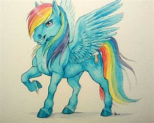 fanart I guess - Rainbow Dash - watercolors by oomizuao on ...
