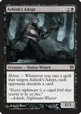 Ashiok Nightmare Weaver Mill Deck by Ashiok S Adept From Born Of The Gods Spoiler