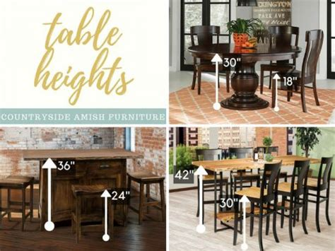 standard height  counter height  bar height amish