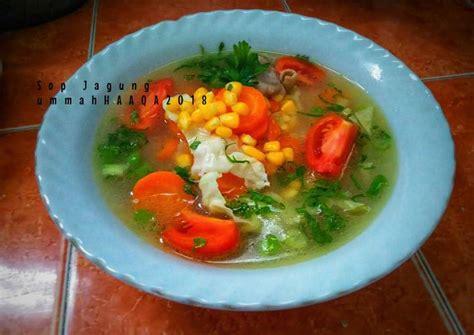 Itulah resep dan cara membuat sayur sop daging sapi bening yang sederhana dan praktis. Resep Sayur Sop Jagung (masakan rumahan sederhana) oleh Afni Nur Rochmah (Ummahhaaqa) - Cookpad