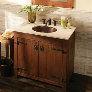 Americana Rustic Bathroom Vanity Bases, Chestnut Finish