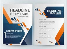 Brochure template design with abstract modern style Free