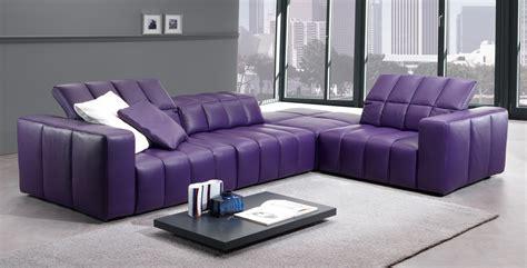 Living Room Purple Leather Sofa Cheap Leather Sofas Sofa