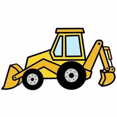 Backhoe Clip Clipart Hoe Equipment Digger Bulldozer
