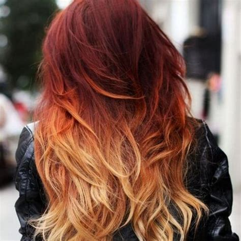 fire ombre hair red ombre hair hair styles fire hair