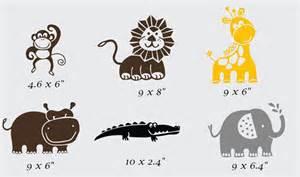 vinyl designs zoo animal collection vinyl wall design