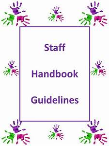 Printable preschool parent handbook for Teacher handbook template