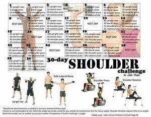 30 Tage Fitness : 30 day shoulder challenge by jodi higgs challenges tribesports workouts pinterest ~ Frokenaadalensverden.com Haus und Dekorationen