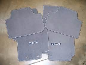 genuine oem 2004 2005 acura tsx gray carpet floor mat set