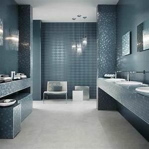 carrelage de salle de bains 57 idees pour les murs et le sol With carrelage moderne salle de bain