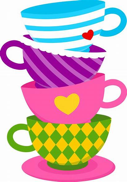 Wonderland Alice Tea Party Clipart Cup Clip