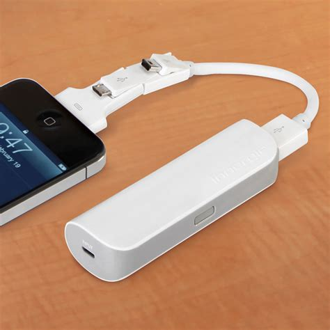 iphone charger the cordless pocket iphone and usb charger hammacher