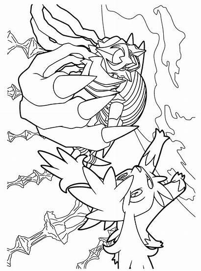 Pokemon Coloring Pages Diamond Giratina Pearl Kleurplaten