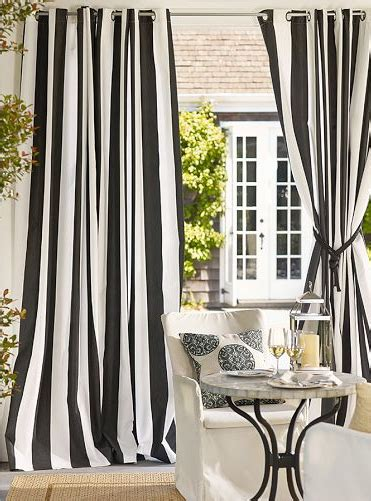 black white drapes pottery barn outdoor grommet curtains