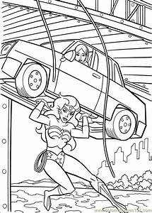 Wonder Woman 40 Coloring Page