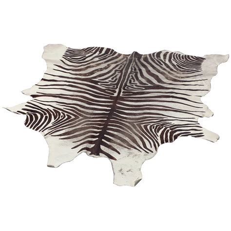 Cowhide Rug Zebra by Cowhide Rug With Printed Zebra Design Lerebours Antiques
