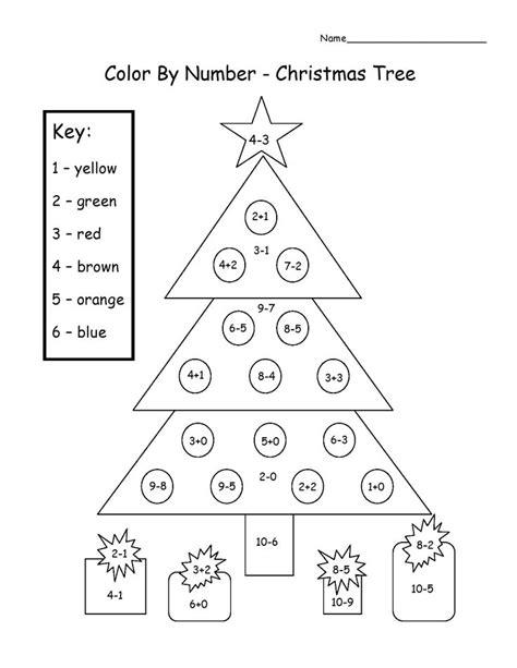 christmas tree math 17 best images about worksheets on