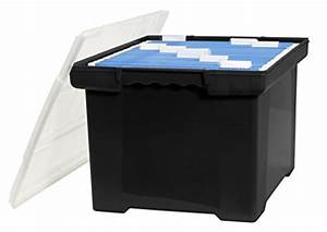 storex plastic file tote storage box with snap on lid With stackable file tote box letter legal size