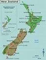 Map of New Zealand (Regions) : Worldofmaps.net - online ...