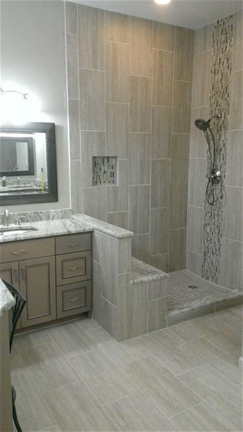 Kohler Bathroom Layout by Master Bathroom Complete Remodel 12 Quot X 24 Quot Vertical Tile