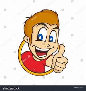 Cartoon Guy Thumbs Stock Vector 301690670 - Shutterstock