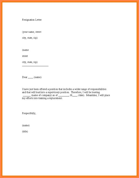 resignation letter  months notice sample notice letter