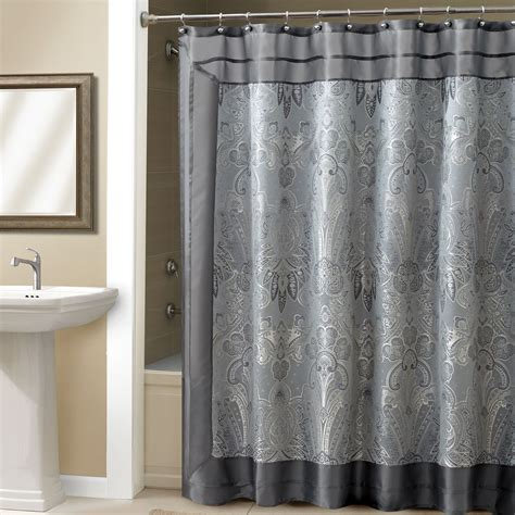 bathroom awesome grey shower curtain  bathroom