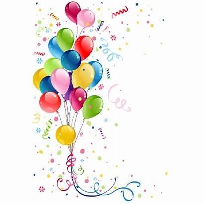 Party Birthday Confetti Clipart Balloons Clip Balloon