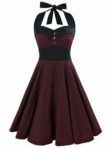 robe vintage rockabilly rock ange39hell quotashley black red With image robe