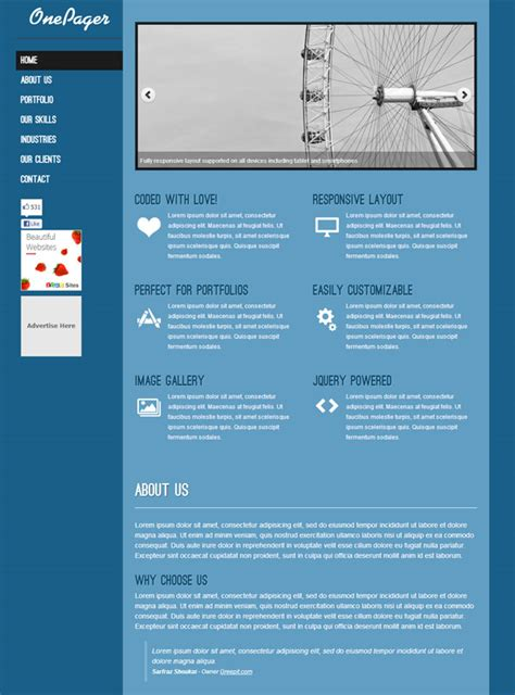 One Pager Template One Pager Template Madinbelgrade