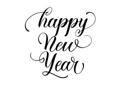 happy  year calligraphy vector