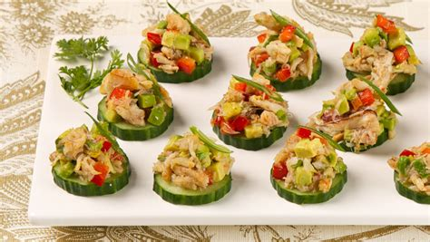 crab canapes crab and avocado canapes cbc